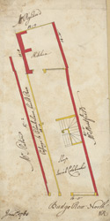 [Plan of property on Budge Row] 120 D